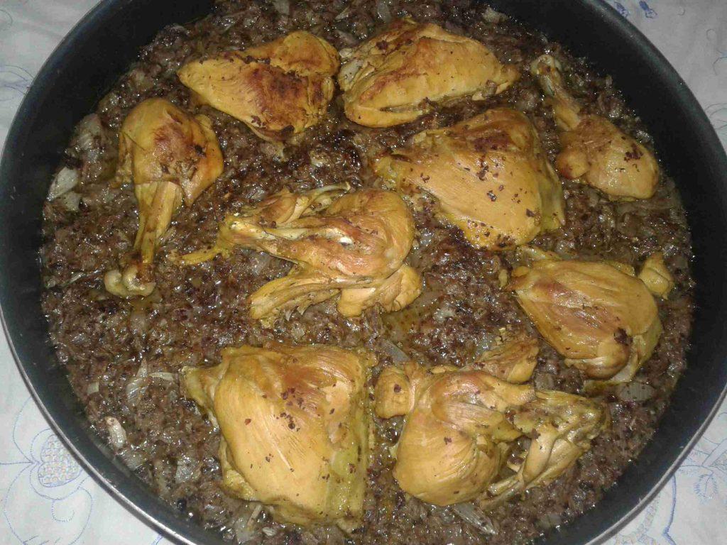صينية دجاج بالبصل والسماق وزيت الزيتون ولا اطيب..ملكة رمضان