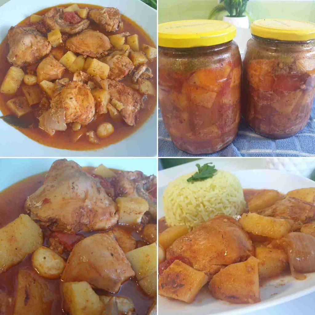 دجاج مع الخضار بمرطبان زجاج ملكة الاكلات التركيه