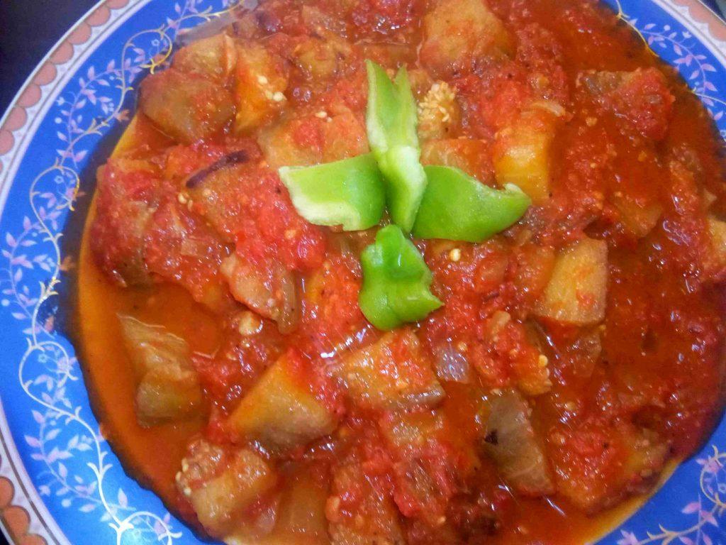 طبخاتنا الشعبية 1 (منزلة باذنجان بطريقتي) ملكة الاكلات الأردنية