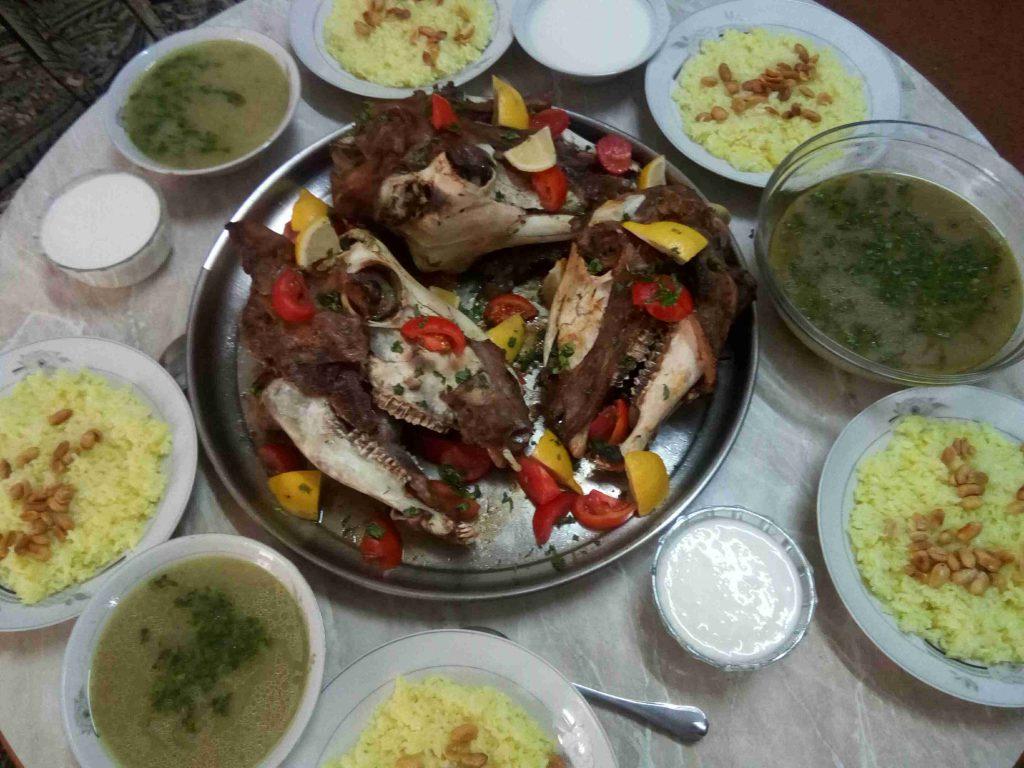 روس خرفان مسلوقة ومحمرة بالفرن(لحمة راس) ملكة الأكلات الأردنية