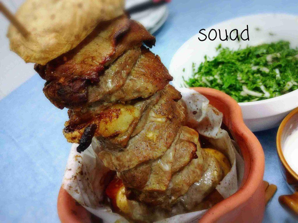 ملكة أطباق اللحوم... سيخ شاورما منزلي لذيذ وسهل التحضير وأطيب من الجاهز... تابعوا الطريقة مع الشيف souad hosna