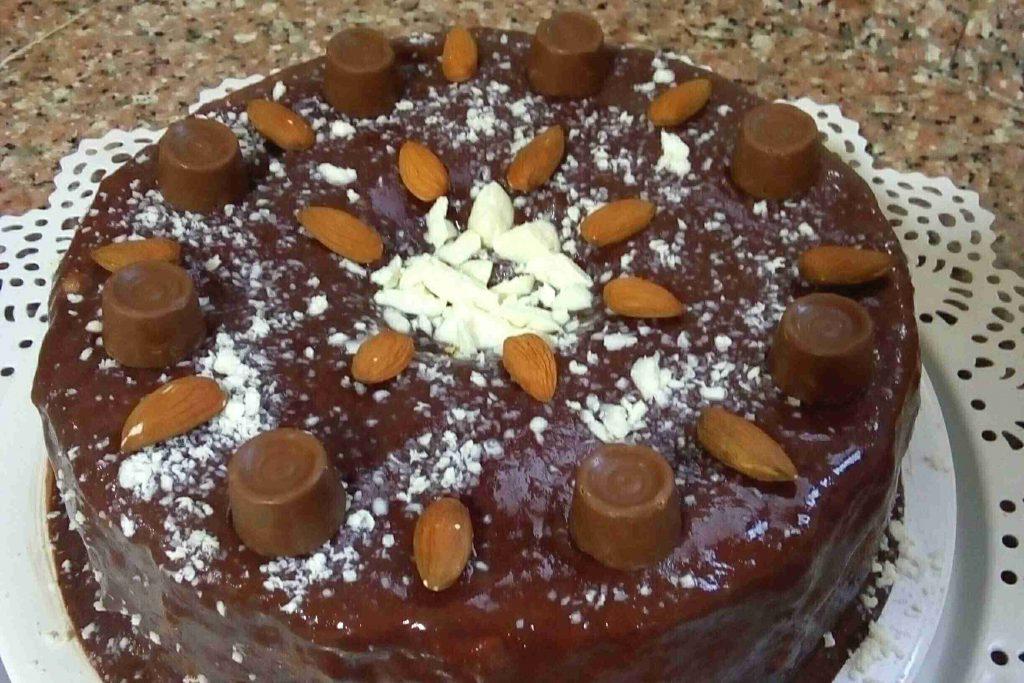 كيكة بحشوة الشوكولا خالية من الجلوتين سلسلة صحتي في غذائي