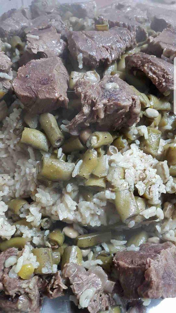 مقلوبه فول اخضر ملكه أطباق اللحوم