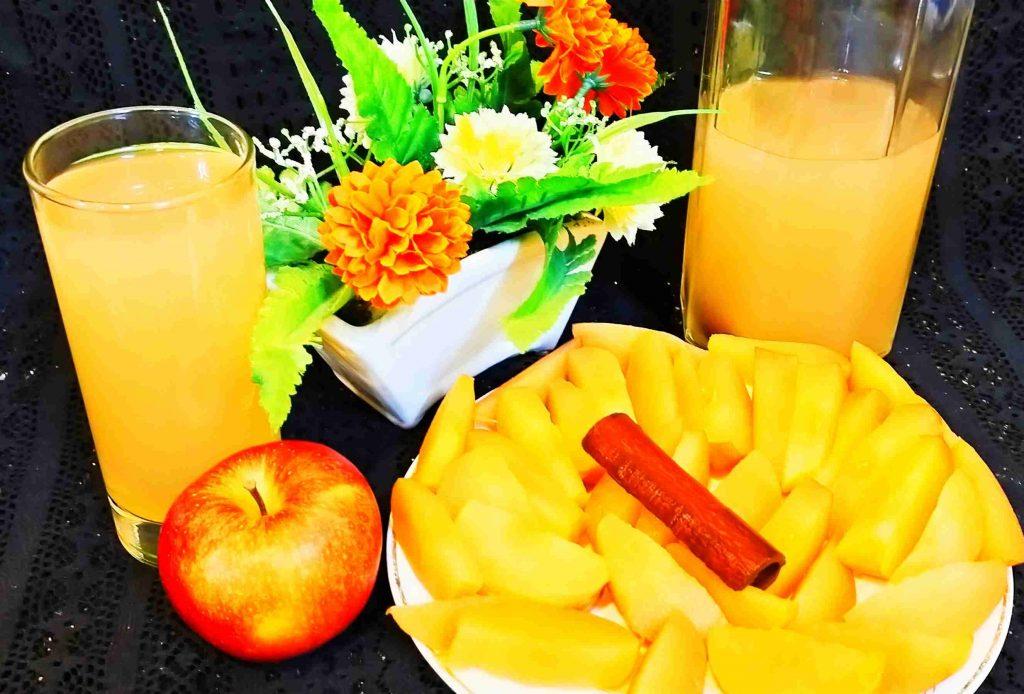 عصير التفاح الطبيعي اللذيذ باالقرفه مع وصفه لمرضى السكر
