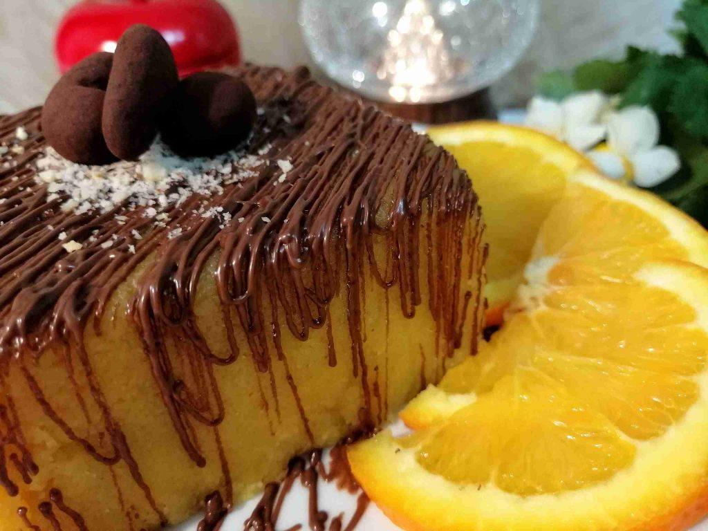 حلا تحفة ومميز بنكهة البرتقال والشوكولاتة