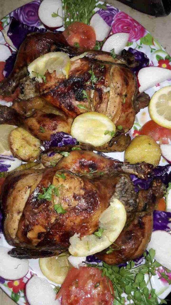 الدجاج المحشي دورة طبخ متنوعه ٦